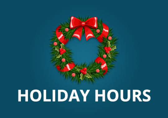 Eagle Homes - Holiday Hours